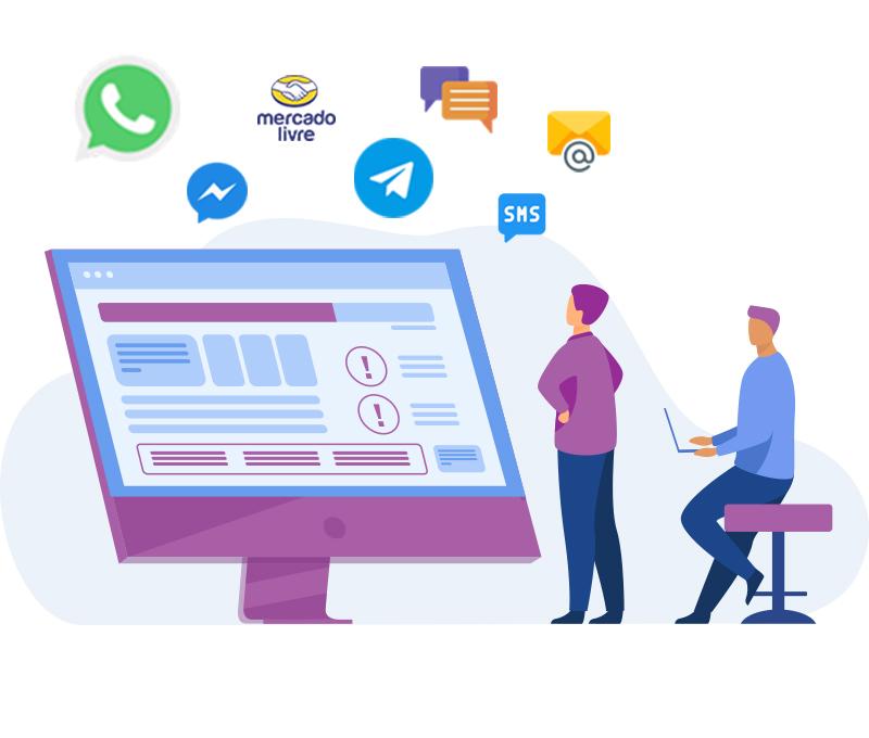 Plataforma Omnichannel para Atendimento ao Cliente: WhatsApp, Messenger, Telegram