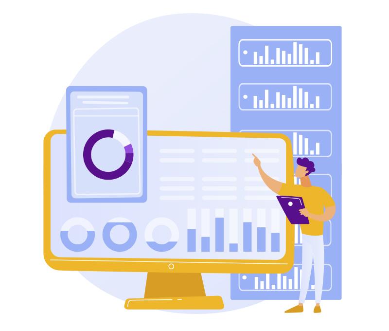 Banner Funcionalidades sisBot - Dashboards e Relatórios